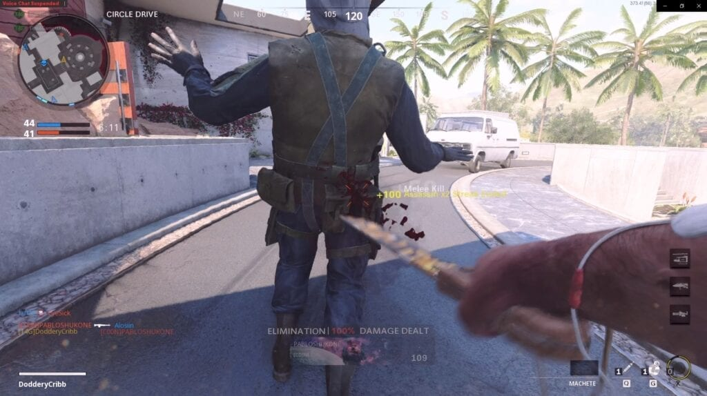 Call of Duty Black Ops Knifing From the Back